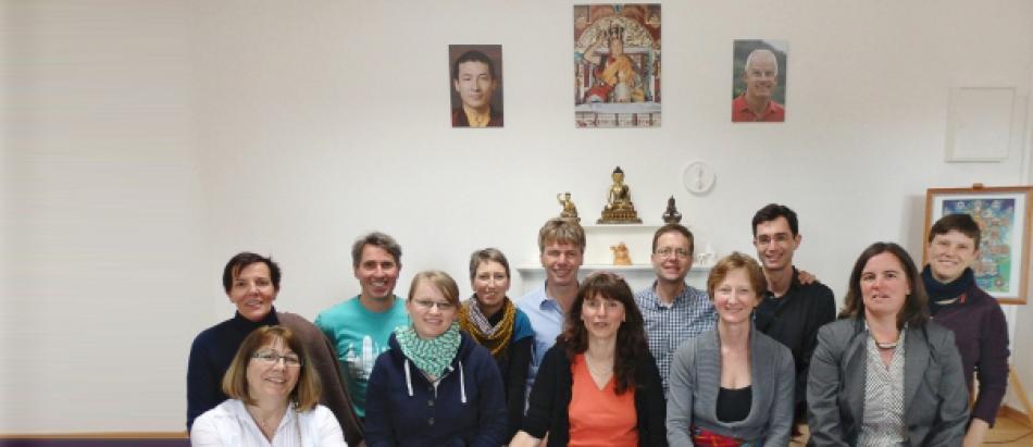 Die Sangha in Potsdam in ihrer Gompa