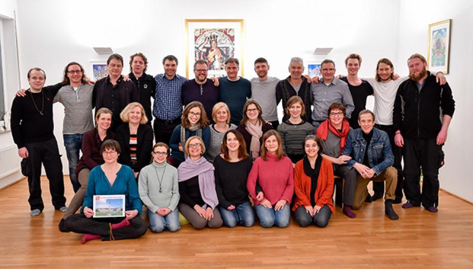 Die Sangha von Stuttgart in der Gompa