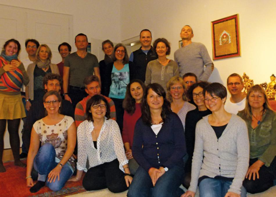 Die Sangha von Freiburg in der Gompa