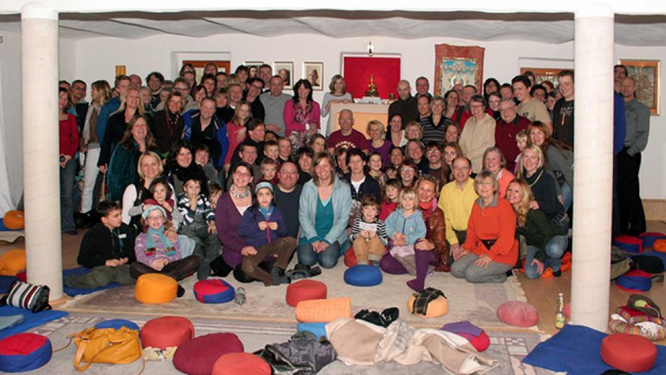 Die Sangha von Ravensburg in der Gompa