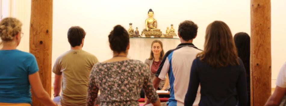 Während der Meditation