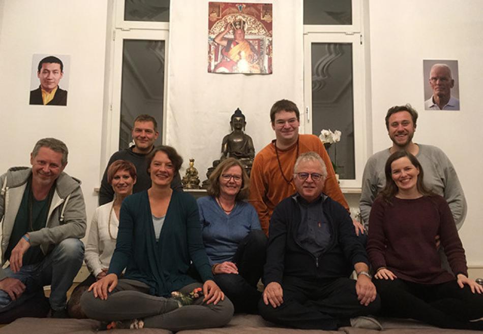 Die Sangha von Rastatt in der Gompa