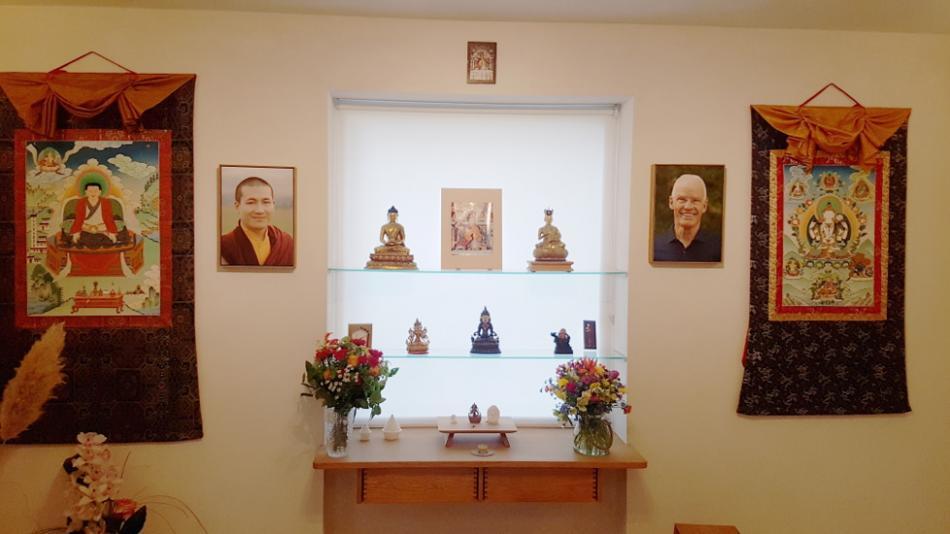 Buddhas im Meditationsraum