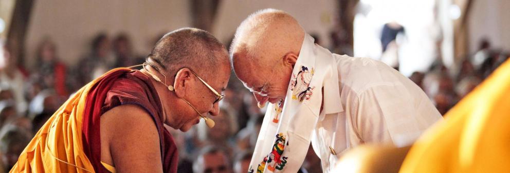 Lama Ole Nydahl und Sherab Gyaltsen Rinpoche