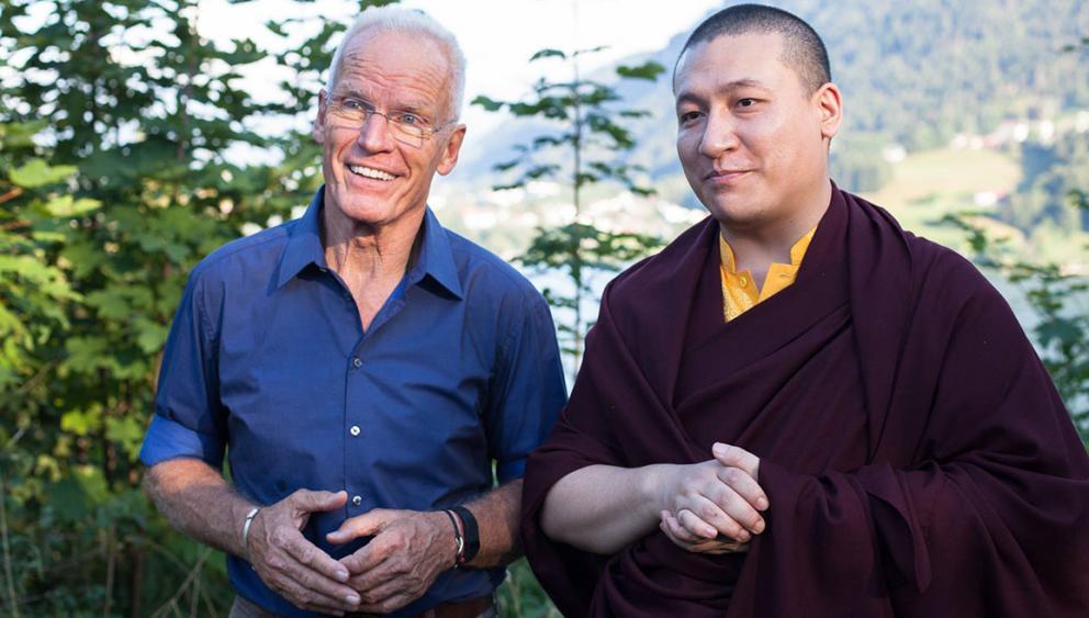 Thaye Dorje, S.H. der 17. Karmapa und Lama Ole Nydahl im Europazentrum in Immenstadt