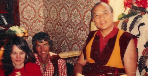 Hannah und Lama Ole Nydahl und der 16. Gyalwa Karmapa Rangjung Rigpe Dorje