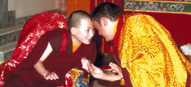 Karmapa Thaye Dorje und Shamar Rinpoche 1994 im KIBI