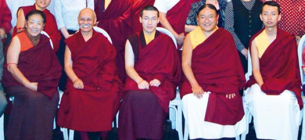 Luding Kenchen Rinpoche, Thaye Dorje, Seine Heiligkeit der 17. Gyalwa Karmapa und Sakya Trizin Rinpoche