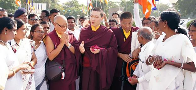 Thaye Dorje, Seine Heiligkeit der 17. Gyalwa Karmapa beim Kagyü Mönlam in Bodh Gaya