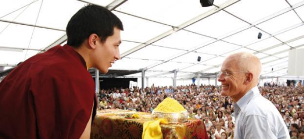Thaye Dorje, Seine Heiligkeit der 17. Gyalwa Karmapa und Lama Ole Nydahl im Europe-Center