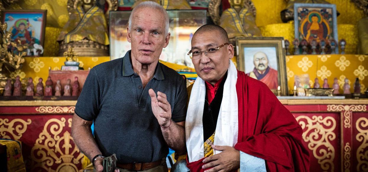 Lama Ole Nydahl mit Lama Taivansaikhan in Ulan Bator