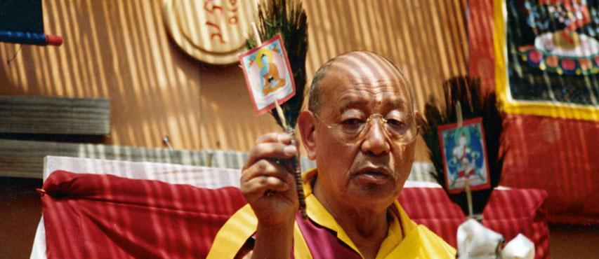 Lopön Tsechu Rinpoche in Karma Guen