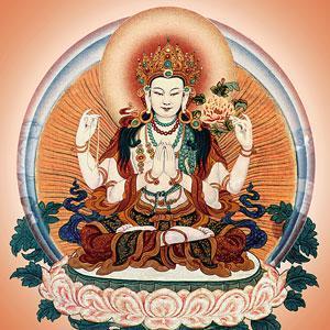 Meditationa uf liebevollge Augen - Chenresig